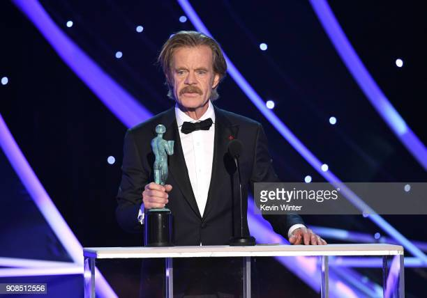 Actor William H Macy accepts the Outstanding Performance by a Male Actor in a Comedy Series award for 'Shameless' onstage during the 24th Annual...