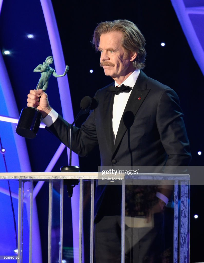 Actor William H. Macy accepts the Outstanding Performance by a Male Actor in a Comedy Series award for 'Shameless' onstage during the 24th Annual Screen Actors Guild Awards at The Shrine Auditorium on January 21, 2018 in Los Angeles, California. 27522_007
