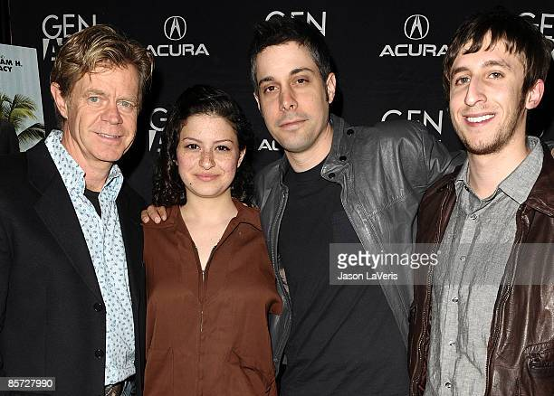 Actor William H Macy actress Alia Shawkat director Brian Hecker and actor Chad Jamian Williams attend a screening of Bart Got a Room at the W Hotel...