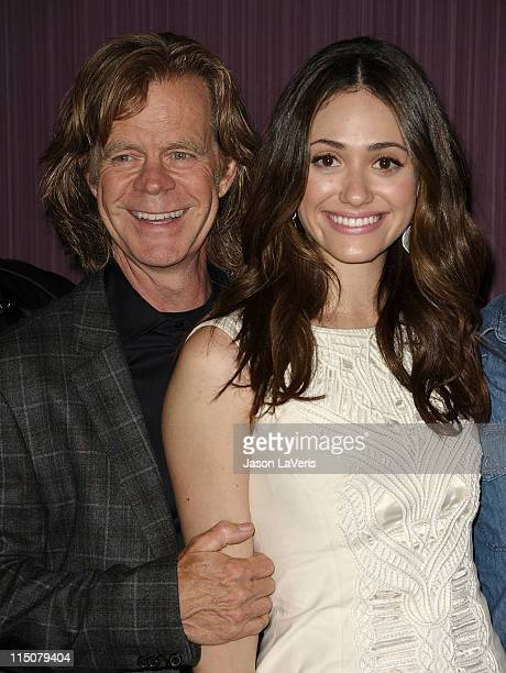 Actor William H Macy and actress Emmy Rossum attend the Shameless screening at Los Angeles Times' 3rd annual The Envelope primetime Emmy screening...