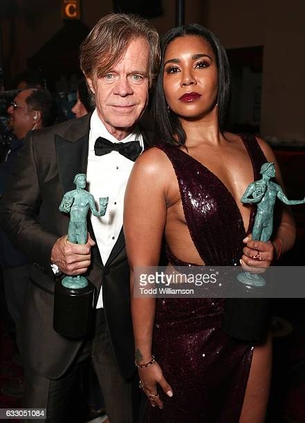 Actor William H Macy and actress Jessica Pimental attend the 23rd Annual Screen Actors Guild Awards at The Shrine Expo Hall on January 29 2017 in Los...