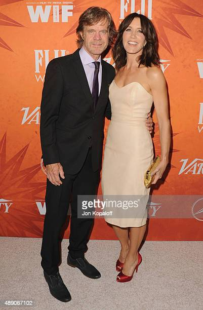 Actor William H. Macy and wife actress Felicity Huffman arrive at the Variety And Women In Film Annual Pre-Emmy Celebration at Gracias Madre on...