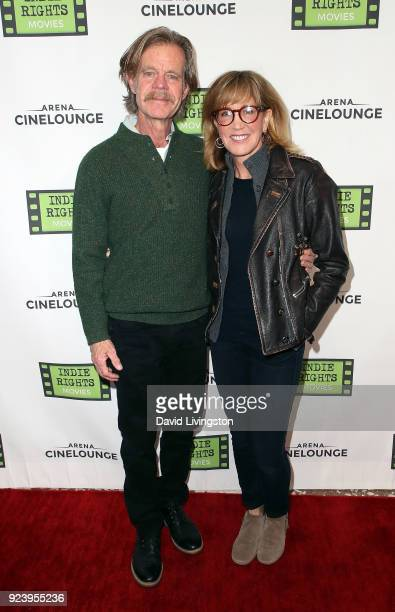 Actor William H Macy and wife actress Felicity Huffman attend the premiere of Indie Rights' Confessions of a Teenage Jesus Jerk at Arena Cinelounge...