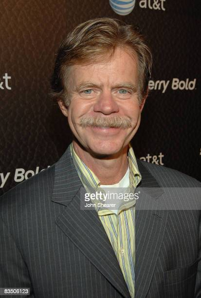 Actor William H Macy arrives at the Blackberry Bold launch party at a private residence on October 30 2008 in Beverly Hills California