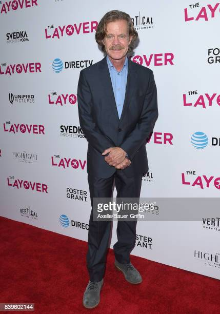 Actor William H Macy arrives at the Los Angeles Premiere of 'The Layover' at ArcLight Hollywood on August 23 2017 in Hollywood California
