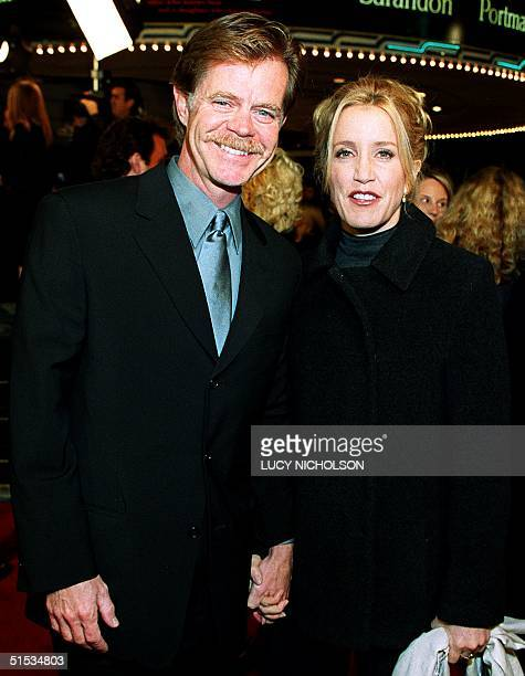 US actor William H Macy arrives at the premiere of her new film Magnolia with costar Felicity Huffman in Los Angeles CA 08 December 1999 The film is...