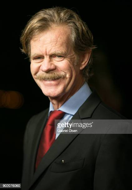 Actor William H Macy arrives for the Showtime Golden Globe Nominees Celebration at Sunset Tower on January 6 2018 in Los Angeles California