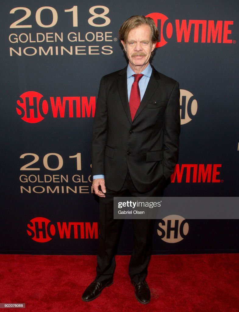 Actor William H. Macy arrives for the Showtime Golden Globe Nominees Celebration at Sunset Tower on January 6, 2018 in Los Angeles, California.