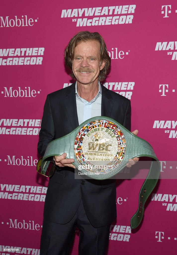 Actor William H. Macy arrives on T-Mobile's magenta carpet duirng the Showtime, WME IME and Mayweather Promotions VIP Pre-Fight Party for Mayweather vs. McGregor at T-Mobile Arena on August 26, 2017 in Las Vegas, Nevada.