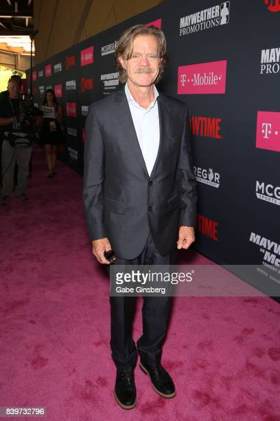 Actor William H Macy arrives on TMobile's magenta carpet duirng the Showtime WME IME and Mayweather Promotions VIP PreFight Party for Mayweather vs...