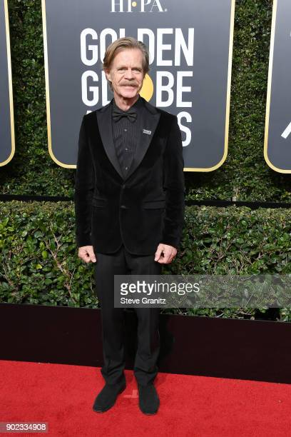 Actor William H Macy attends The 75th Annual Golden Globe Awards at The Beverly Hilton Hotel on January 7 2018 in Beverly Hills California