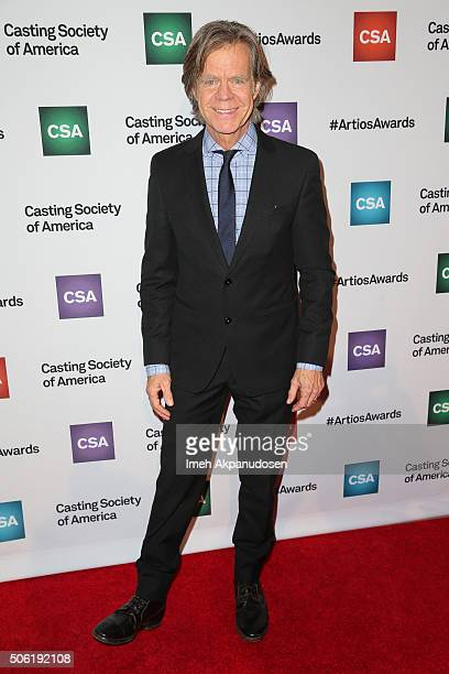 Actor William H Macy attends the Casting Society Of America's 31st Annual Artios Awards at The Beverly Hilton Hotel on January 21 2016 in Beverly...