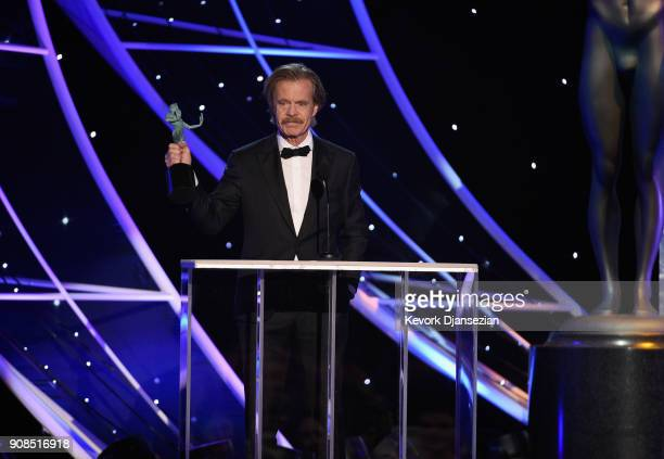 Actor William H Macy onstage during the 24th Annual Screen Actors Guild Awards at The Shrine Auditorium on January 21 2018 in Los Angeles California