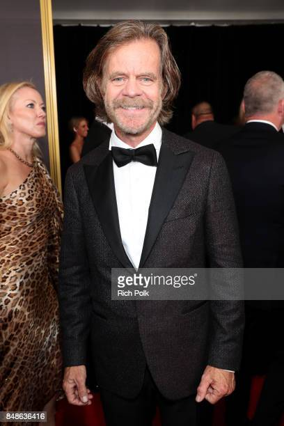 Actor William H Macy walks the red carpet during the 69th Annual Primetime Emmy Awards at Microsoft Theater on September 17 2017 in Los Angeles...