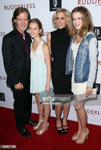 Actor William H Macy wife/actress Felicity Huffman and daughters attend a screening of Samuel Goldwyn Films' Rudderless at the Vista Theatre on...