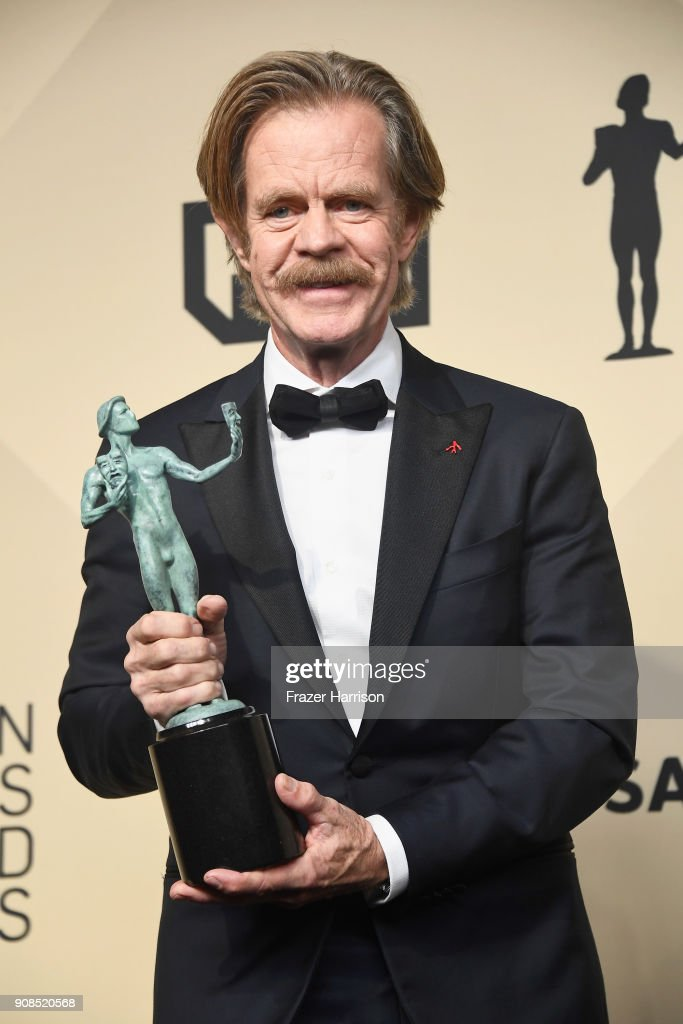 Actor William H. Macy, winner of Outstanding Performance by a Male Actor in a Comedy Series for 'Shameless,' poses in the press room during the 24th Annual Screen ActorsGuild Awards at The Shrine Auditorium on January 21, 2018 in Los Angeles, California.