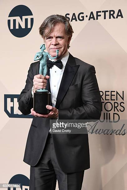 Actor William H. Macy, winner of the Outstanding Performance by a Male Actor in a Comedy Series for 'Shameless' poses in the press room at the 23rd...