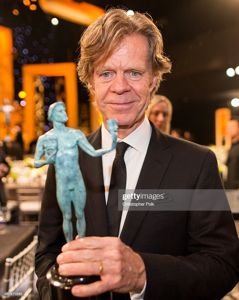 Actor William H. Macy, with his award for Outstanding Performance by a Male Actor in a Comedy Series, attends TNT's 21st Annual Screen Actors Guild Awards at The Shrine Auditorium on January 25, 2015 in Los Angeles, California. 25184_013