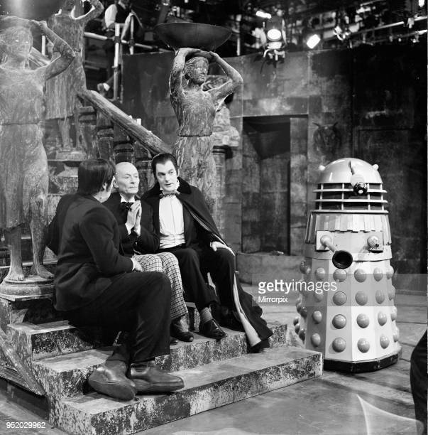 Actor William Hartnell - the first Doctor - pictured during rehearsals at Television Centre 21st May 1965. Dr Who Story - The Chase, starring The...