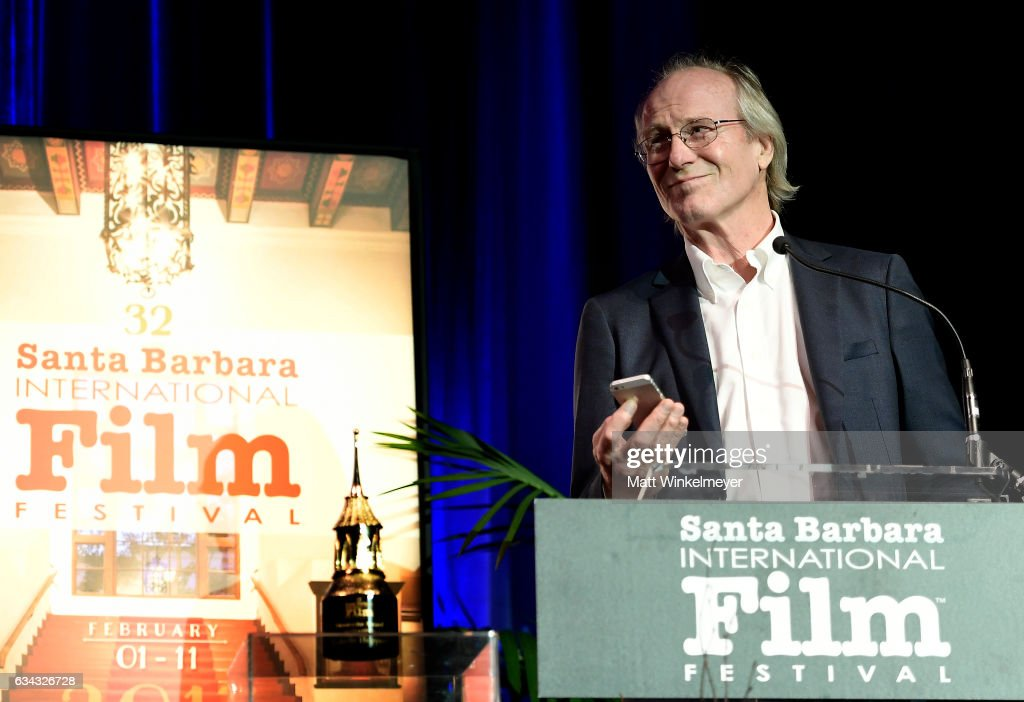 Actor William Hurt speaks onstage at the Montecito Award during the 32nd Santa Barbara International Film Festival at the Arlington Theatre on February 8, 2017 in Santa Barbara, California.