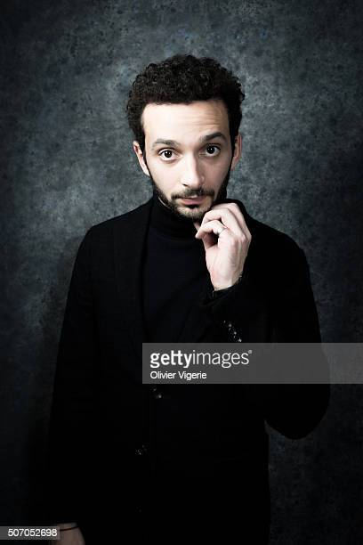 Actor William Lebghil is photographed for Self Assignment on January 13, 2016 in Alpe d'Huez, France.