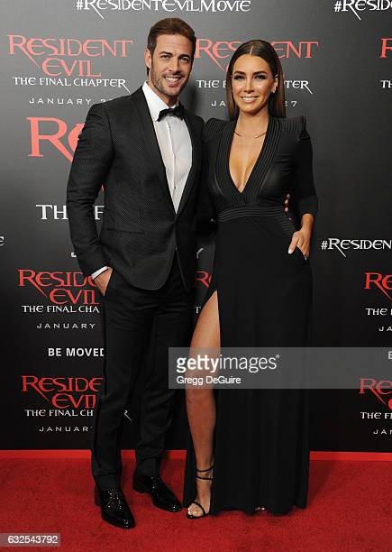 "Actor William Levy and Elizabeth Gutierrez arrive at the premiere of Sony Pictures Releasing's ""Resident Evil: The Final Chapter"" at Regal LA Live: A..."