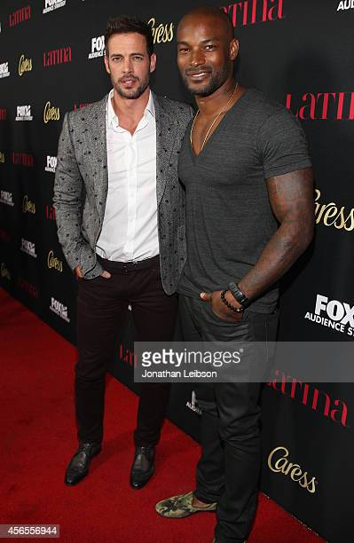 Actor William Levy and model Tyson Beckford attend Latina Magazine's Hollywood Hot List Party at Sunset Tower on October 2 2014 in West Hollywood...