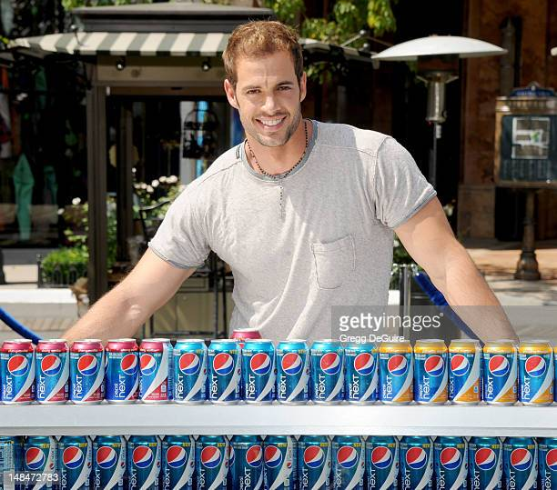 Actor William Levy launches the new Pepsi Next Cherry Vanilla and Pepsi Next Paradise Mango at The Americana at Brand on July 17 2012 in Glendale...