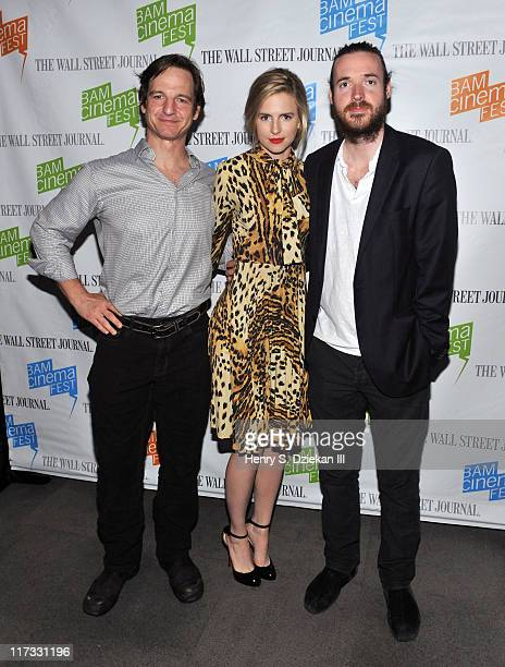 Actor William Mapother actress Brit Marling and director Mike Cahill attend the sneak preview of Another Earth during 2011 BAMcinemaFest at BAM Rose...