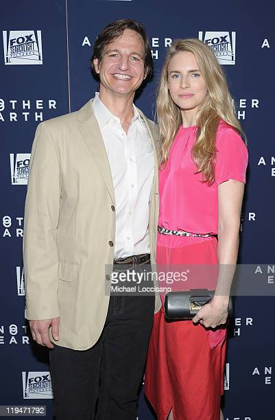 Actor William Mapother and actress Brit Marling attend the Another Earth premiere at Landmark's Sunshine Cinema on July 20 2011 in New York City