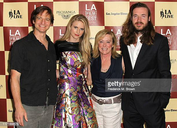 Actor William Mapother producer/cowriter/actress Brit Marling President of Fox Searchlight Pictures Nancy Utley and Cowriter/producer Mike Cahill...