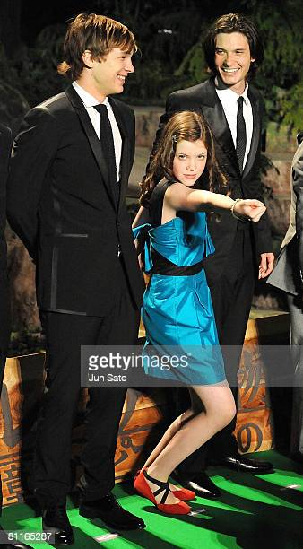 Actor William Moseley actress Georgie Henley and actor Ben Barnes attends The Chronicles of Narnia Prince Caspian Japan Premiere at Roppongi Hills...
