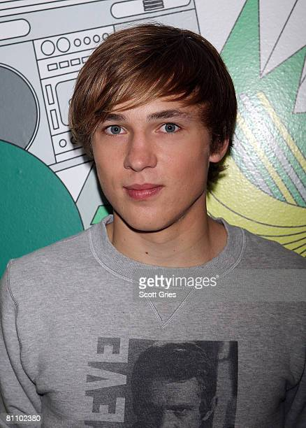 Actor William Moseley poses for a photo backstage during MTV's Total Request Live at the MTV Times Square Studios on May 5 2008 in New York City