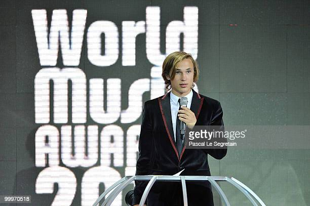Actor William Moseley presents onstage during the World Music Awards 2010 at the Sporting Club on May 18, 2010 in Monte Carlo, Monaco.