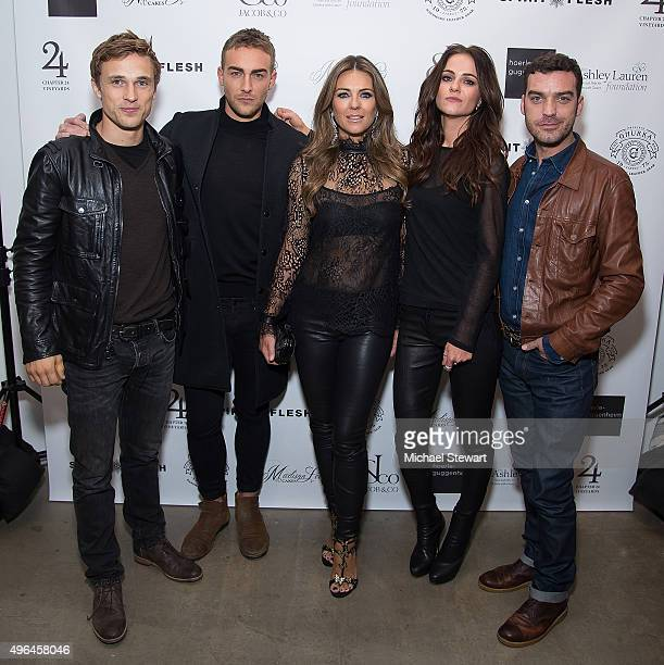Actor William Moseley Tom Austen Elizabeth Hurley Alexandra Park and Jake Maskall attend the 'The Royals' series season two premiere celebration at...