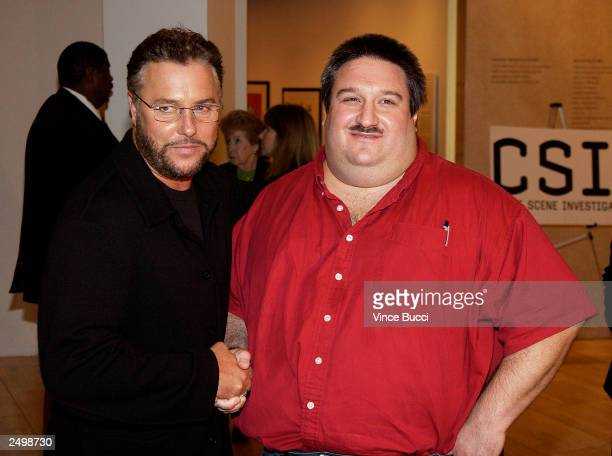 Actor William Petersen and crime investigator Daniel Holstein attend a special screening of the fourth-season premiere episode of the top-rated...