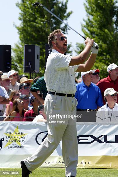Actor William Petersen tees off at the Sixth Annual Michael Douglas Friends celebrity golf event held at the Cascata golf course