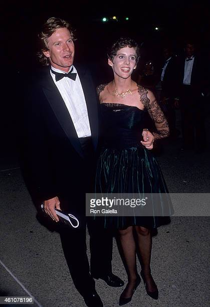 Actor William R Moses and actress Tracy Nelson attend the Museum of Broadcasting Honors Aaron Spelling After Party on September 7 1988 at the Four...
