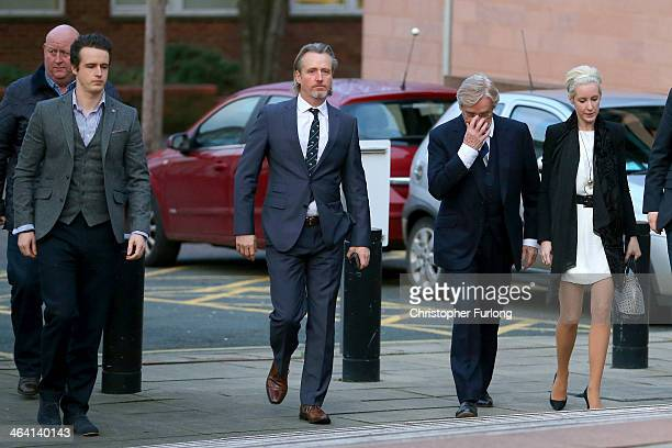 Actor William Roache arrives at Preston Crown Court with his children James Roache Linus Roache and Verity Roache for the sixth day of his trial over...