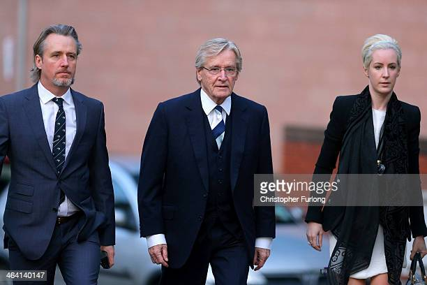 Actor William Roache arrives at Preston Crown Court with his children Linus Roache and Verity Roache for the sixth day of his trial over historical...