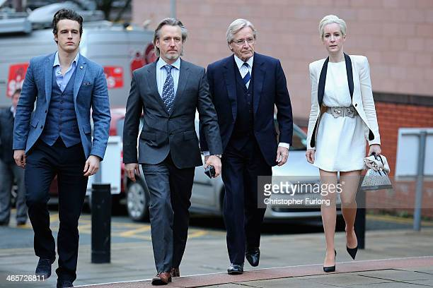Actor William Roache arrives at Preston Crown Court with his children James Roache Linus Roache and Verity Roache for his trial over historical...