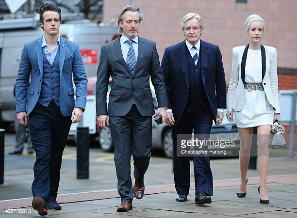 Actor William Roache arrives at Preston Crown Court with his children James Roache, Linus Roache and Verity Roache for his trial over historical...