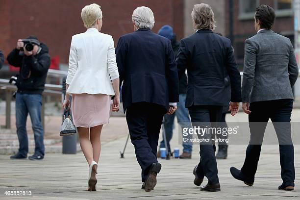 Actor William Roache arrives at Preston Crown Court with his children Verity Roache, Linus Roache and James Roache for the 12th day of his trial over...