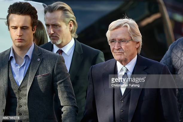 Actor William Roache arrives at Preston Crown Court with his sons James Roache and Linus Roache for his trial over historical sexual offence...