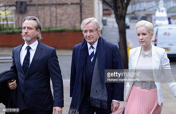 Actor William Roache arrives to face charges of indecent assault with his daughter Verity at Preston Crown Court on January 15 2014 in Preston...