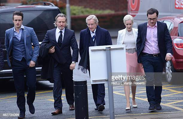 Actor William Roache arrives to face charges of indecent assault with his daughter Verity and sons James and Linus at Preston Crown Court on January...