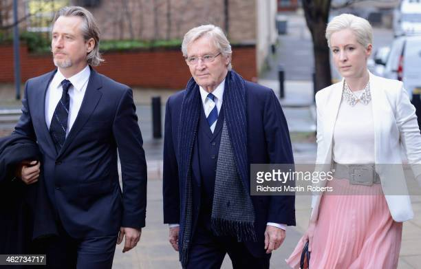 Actor William Roache arrives to face charges of indecent assault with his daughter Verity and son Linus at Preston Crown Court on January 15 2014 in...
