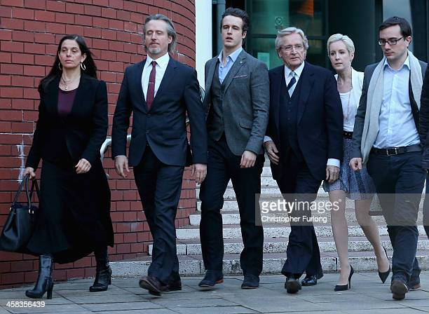 Actor William Roache leaves Preston Crown Court with his children Linus James and Verity during his trial over historical sexual offence allegations...