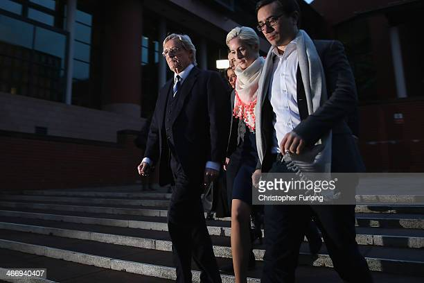 Actor William Roache leaves Preston Crown Court, with his daughter Verity Roache and her partner Paddy, as he faces trial over historical sexual...