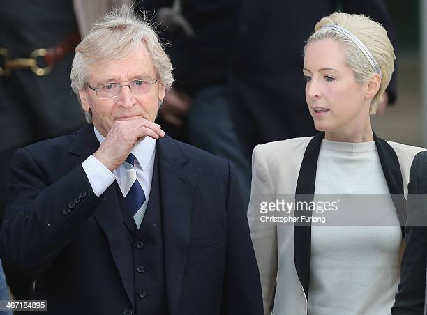 Actor William Roache with his daughter Verity Roache leaves Preston Crown Court after being found not guilty over historical sexual offence...